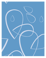 Bügelbezug Universalcover Blau